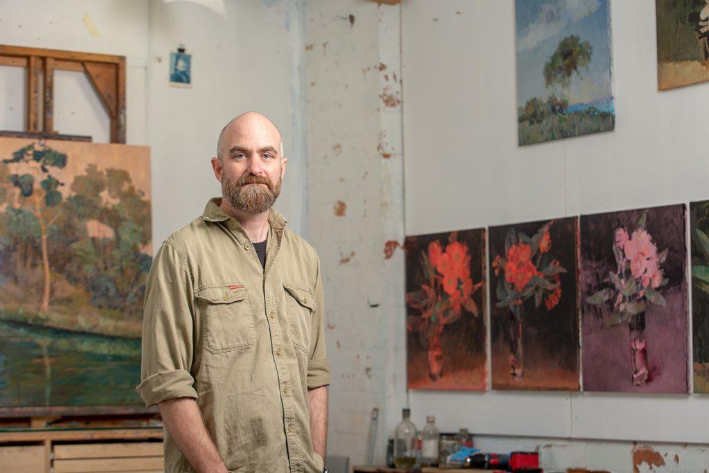 Adam Pyett in his studio. Photo by Sean McPhillips